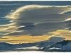 Lenticular clouds at Orne Harbour, Antarctica