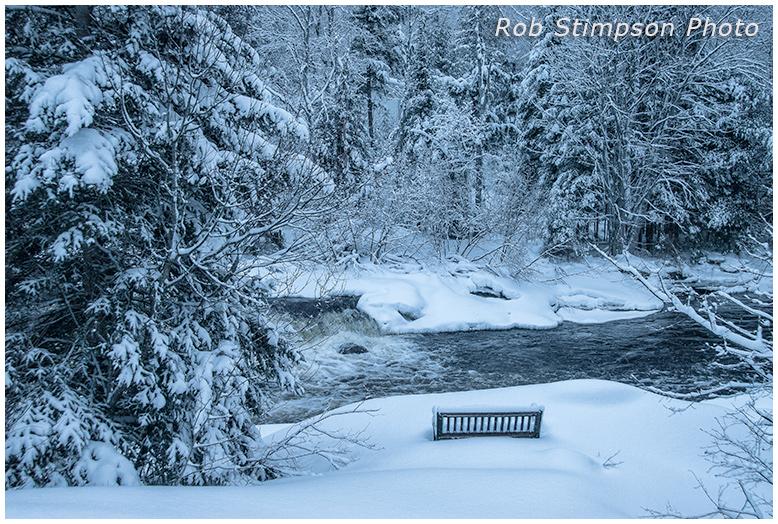 Black River - Winter in Muskoka Ontario