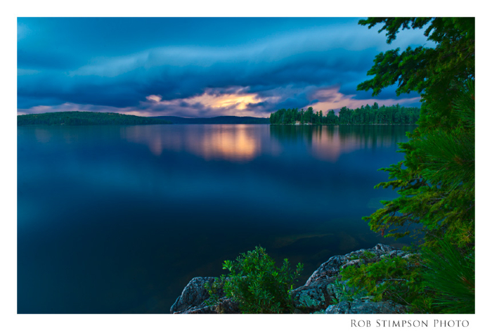 lake opeongo; approaching storm; algonquin park; ontario
