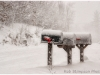 Mailboxes in a snowstorm - Winter in Muskoka Ontario
