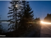 Algonquin Prov Park - 5 am - moon setting - semi approaching