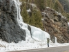 Algonquin Prov Park - icefall along highway 60 - march