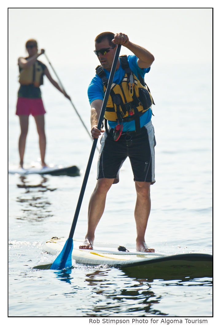 Stand up paddle boarding on Lake Superior