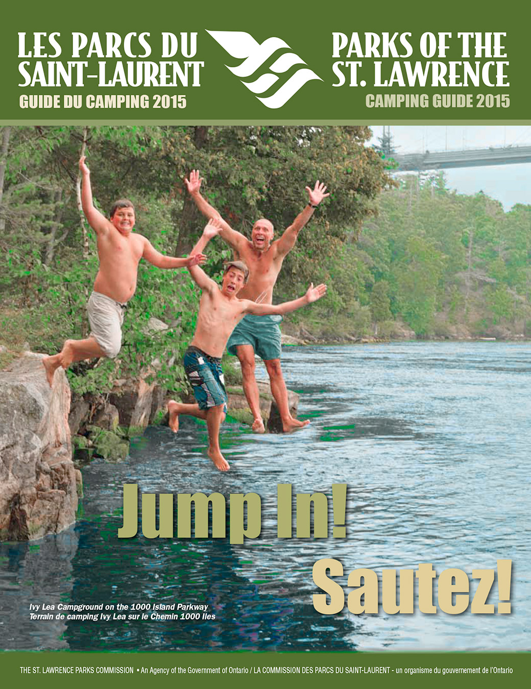2015S St Lawrence Parks Camping Guide Cover