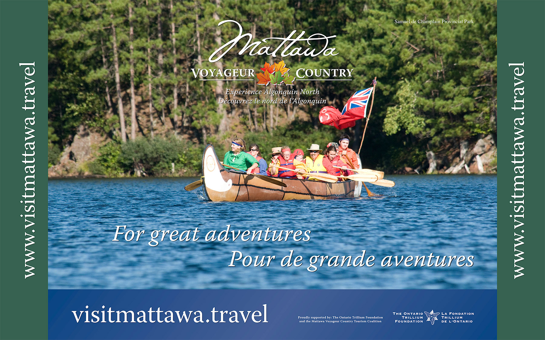 Mattawa Tourism fabric wall