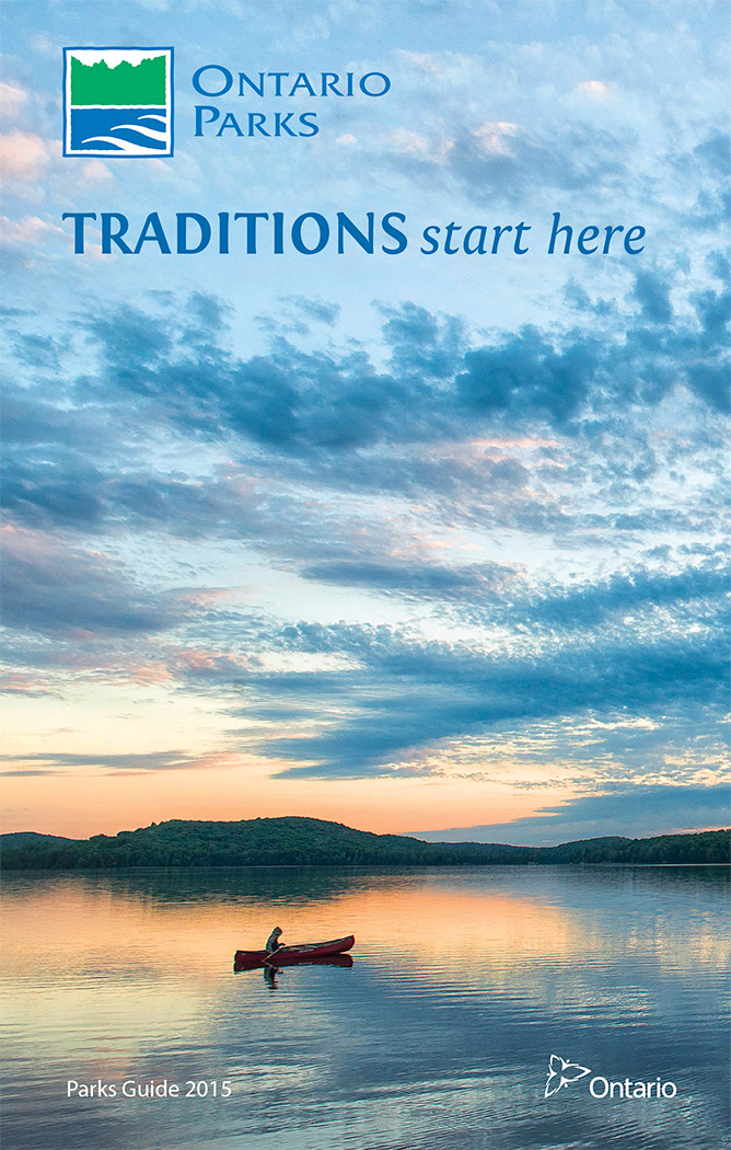 2015 Ontario Parks Guide cover