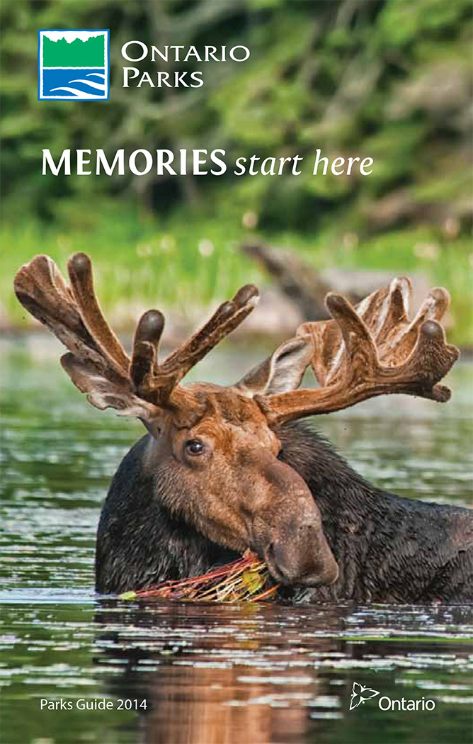 2014 Ontario Parks Guide cover
